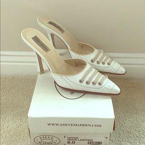Steve Madden Havoc white heels - Size 8